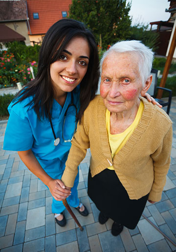 Nurse with an older patient in Costa Rica