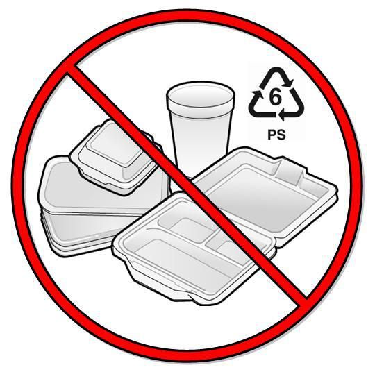 Image indicating styrofoam will be banned in Costa Rica