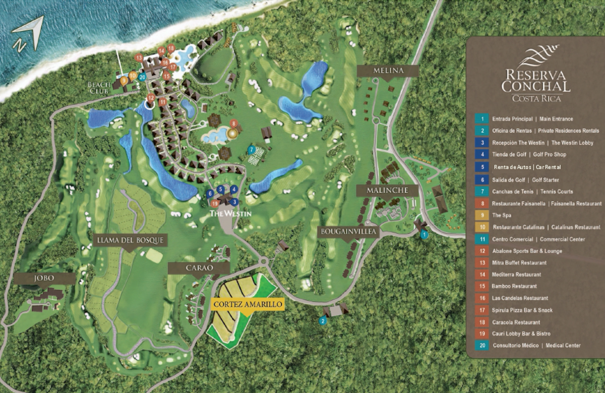 Updated Westin Costa Rica Map