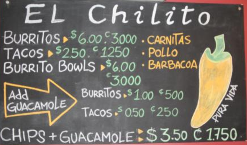 El Chilito restaurant in Tamarindo