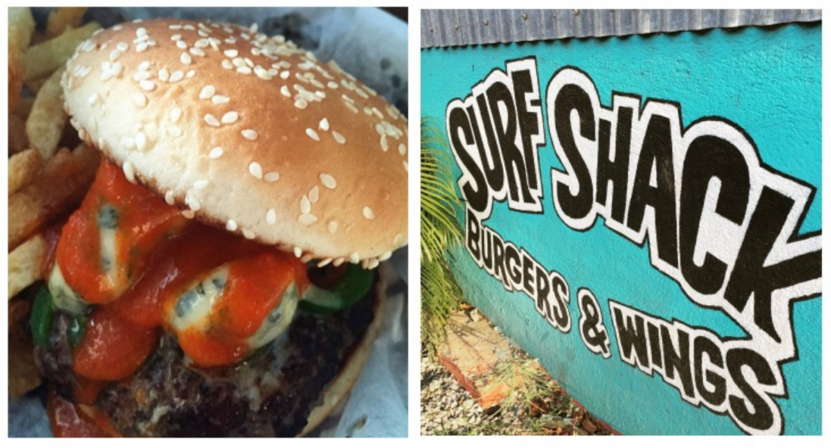 The surf shack burgers and wings in Tamarindo