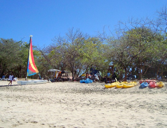 Kayaks on Playa Conchal Costa Rica