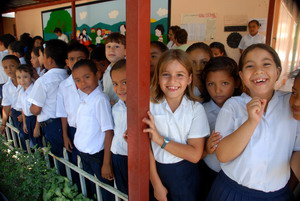 Happy Costa Rican students