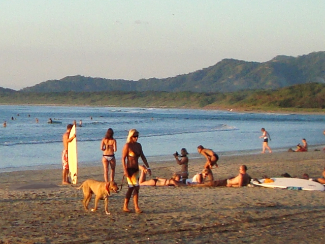 Surfers on Tamarindo Beach