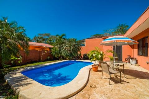 Casa-Roja-two-bedroom-home-pool-playa-potrero-beach-community-costa-rica