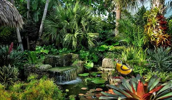 Beautifully landscaped garden in Costa Rica